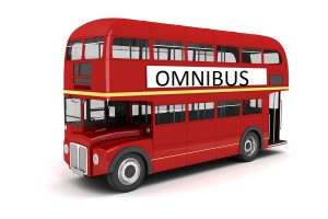 3d london bus on white background